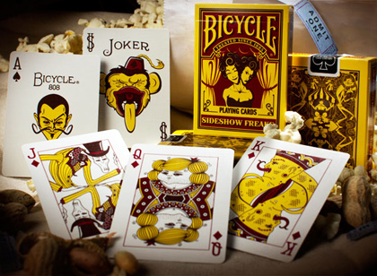 carti de joc bicycle sideshow freaks